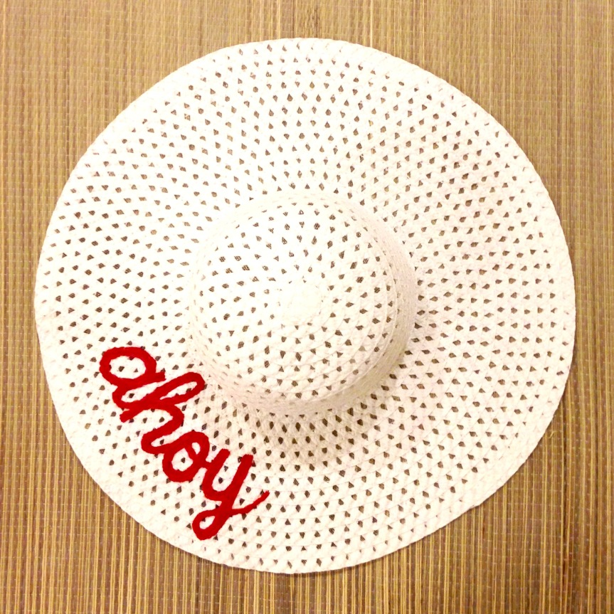Tutorial: DIY Embroidered Sun Hat