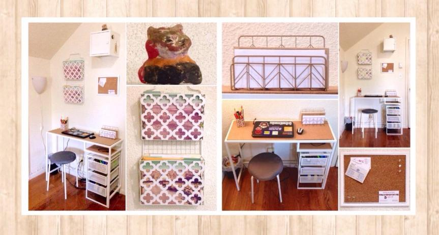 Humble Home Makeover: Our Fiscally Friendly & Space Saving Family Workspace